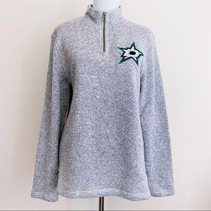 Adidas Dallas Stars NHL Hockey Quarter Zip Sweater